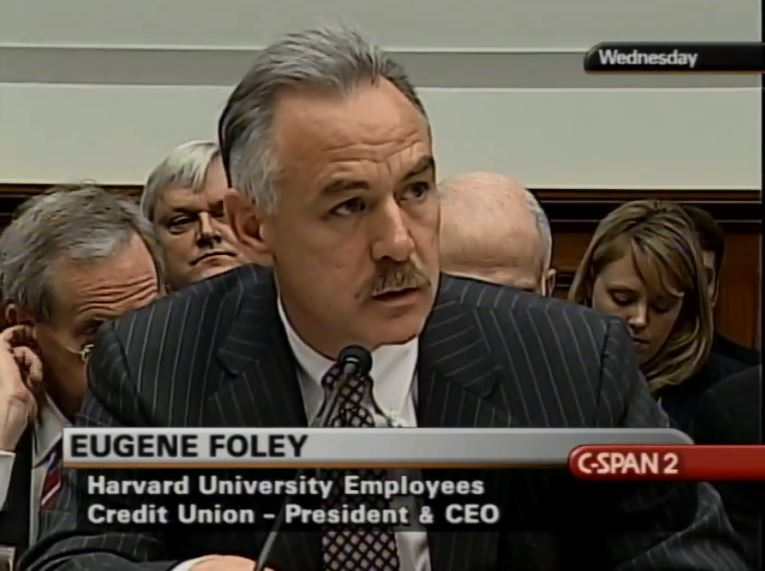 Gene Foley appearing on C-SPAN before a Congressional Committee on May 4, 2005.
