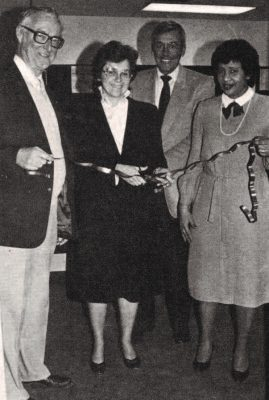 Ribbon cutting ceremony at MGH in 1983.